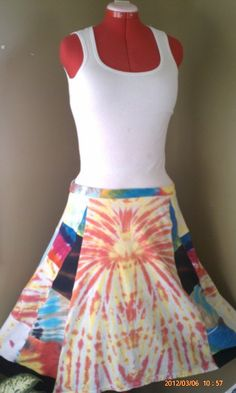 Patchwork Hippie Upcycled Tie Dye Music Festival T by MAMASTEELE, $45.00
