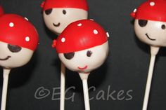 Cake Pops - Arrr! Mateys! Pirate cake pops for boys and girls. http://www.sevenlittlemonkeys.com