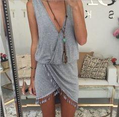 ruflles dress