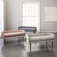 West Elm offers modern furniture and home decor featuring inspiring designs and colors. Create a stylish space with home accessories from West Elm. Bench Furniture, Upholstered Bench, Ottoman Bench, Home Furniture, Modern Furniture, Antique Furniture, Round Ottoman, Entryway Furniture, Metal Furniture