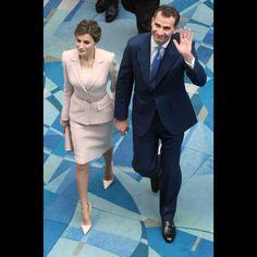 La reine Letizia et le roi Felipe VI d'Espagne à Porto Rico, le 15 mars 2016