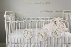 Ivy's Lifestyle Newborn Shoot | Photography: @savannahdeann | Crib: @brattdecor | Decals: @urbanwalls | Rocker: @potterybarnkids | Curtains: @target