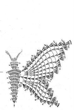 Crochet Butterfly Chart