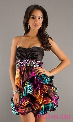 Unique homecoming dress. You're definitely gonna stand out on the dance floor! ($39 at promgirl.com)