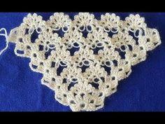 Bahar Çiçekleri Üçgen Şal Modeli | Los gorros, las bufandas, el chal, la palatina. | Postila
