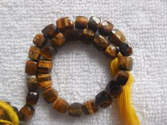 """Beads Square Natural Gemstone Tiger Eye Cube 3d Faceted Strand 8""""  #Unbranded Tiger Eye Beads, Natural Gemstones, Cube, 3d, Eyes, Jewelry, Bijoux, Jewlery, Jewels"""