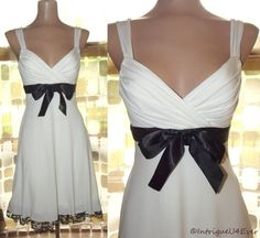 for sale- RETRO 50s Style SEXY Petticoat Sweep Pin-Up Party Dress Black & White REPRO S/M
