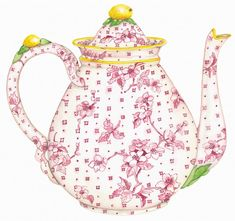 pink-teapot from Susan Branch!       Aline for pretty illustrations