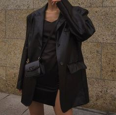 Looks Chic, Looks Style, My Style, Looks Pinterest, Cool Outfits, Fashion Outfits, Looks Black, Leather Blazer, Aesthetic Clothes