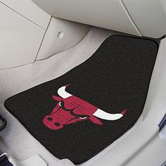 Chicago Bulls NBA Car Mats 2 Piece Front  http://allstarsportsfan.com/product/chicago-bulls-nba-car-mats-2-piece-front/  Two 18-in x 27-in carpet car mats 100% nylon face with non-skid vinyl backing Adorned with team logo and colors