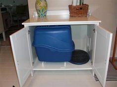 Hidden in plain site! Cat litter cabinet - HOME SWEET HOME