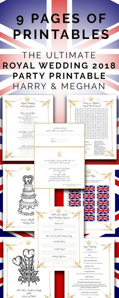 The Ultimate Royal Wedding 2018 Party Printable Prince Harry & Meghan Wedding Trivia, Wedding Bible, Tea Party Wedding, Wedding Pins, Royal Wedding Themes, Royal Wedding Invitation, Royal Weddings, Harry And Meghan Wedding, Prince Harry And Meghan