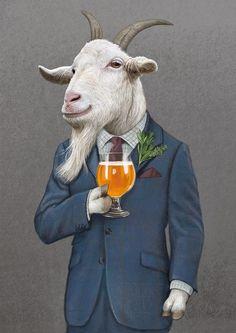Slush Pour your Concrete Mold. Farm Animals, Funny Animals, Cute Animals, Arte Peculiar, Goat Art, Animal Heads, Surreal Art, Pet Clothes, Pet Portraits