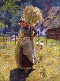 La Faneuse by Emile Claus