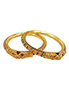 wowemall.in/fashion-jewellery/bangles-and-bracelets/surat-diamonds-enamelled-lion-faced-24kt-gold-plated-bangles-for-women-bgp53.html