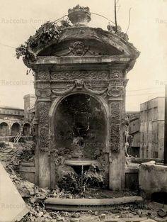 Roma Sparita -Mercati di Traiano, ninfeo dell'ex palazzo Tiberi (demolito)