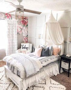 Cute Bedroom Ideas, Pretty Bedroom, Room Ideas Bedroom, Cosy Bedroom, Bedroom Decor For Kids, Bedroom Designs For Girls, Girls Bedroom Decorating, Tween Girl Bedroom Ideas, Girls Bedroom Ideas Teenagers