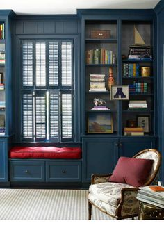 """Yes, bookcases, shutters, and all. """"This has a huge impact and can be very sophisticated,"""" Harper says. Ngoc Minh Ngo  - HarpersBAZAAR.com"""