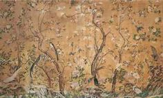 A PIEDMONTESE CHINOSERIE WALLPAPER PANEL