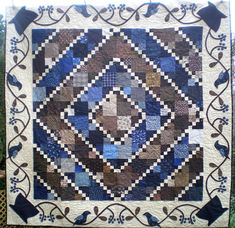 Stitchin' the Blues Away Quilt Pattern CYQ-233 (intermediate, wall hanging, lap and throw)