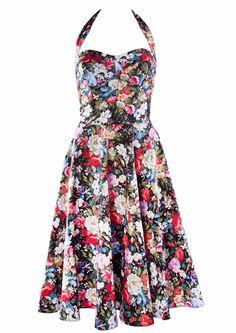 50s Swing Dress - Floral http://www.20thcenturyfoxy.com/en/1950s-fashion/50s-swing-dress-floral
