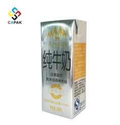 Customized Foldable 200S aseptic milk packaging Package