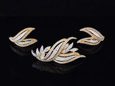 Vintage Panetta RHINESTONE Jewelry Set Designer