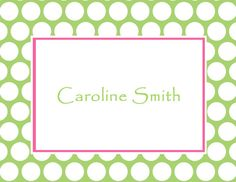 Personalized Polka Dot Design Folded Note Cards (A2) on Etsy, $10.50