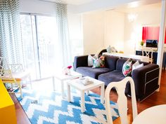 CONDO LIVING: CLOSE QUARTERS. Designing a beautiful, small home with zero budget!  Things you would never guess are DIY! | withHEART.com