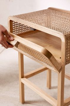Marte Rattan Side Table Urban Outfitters Marte Rattan Side Table Urban Outfitters The post Marte Rattan Side Table Urban Outfitters appeared first on Wohnaccessoires. Side Table Decor, Table Decor Living Room, Rattan Side Table, Room Decor, Bed Side Table Ideas, Side Table With Storage, Cane Furniture, Rattan Furniture, Furniture Design
