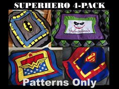 Crochet Superhero 4 pack of patterns by VictoriaRoseShop. These are fantastic looking blankets!