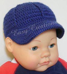 CROCHET PATTERN Baby Boy Girl Baseball Cap Visor Hat sizes 0 to 12 mo adult  instructions included sk b770e864ae4