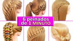 6 Peinados para Pelo Chino - Escuela - Trabajo - Fiestas - Faciles y Rap...