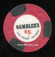 #LasVegasCasinoChip of the Day is a $5 Gamblers 1st issue rare Downtown Chip from 1974.  You can get it here https://www.all-chips.com/ChipDetail.php?ChipID=18341 #CasinoChip #LasVegas