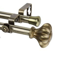 Flair Double Curtain Rod and Hardware Set