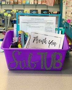 Alert the media, I'm taking a PERSONAL day! The sub tub is ready, I'm ready, and my kiddos have been bribed. 🤷🏼♀️ Talk to me about… Classroom Organisation, Classroom Projects, Teacher Organization, Science Classroom, Teacher Hacks, Kindergarten Classroom, Classroom Themes, School Classroom, Classroom Management