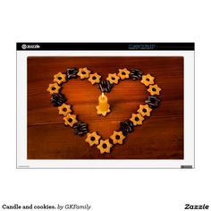 """Candle and cookies. 17"""" laptop decal"""