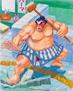 The artwork and character art of E. Honda from the original 'Street Fighter II'. The artwork and character art of E. Honda from the original 'Street Fighter II'. Street Fighter Alpha 2, Street Fighter Game, Capcom Street Fighter, Street Fighter Characters, Super Street Fighter, Capcom Vs Snk, Game Character, Character Design, Art Of Fighting