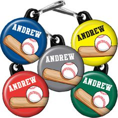Team Baseball Personalized Zipper Pulls