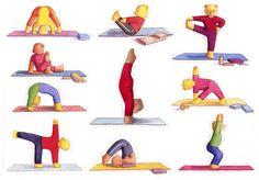 Large product image for Yoga Teds Stickers - Sheet 2