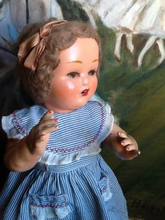 Antique Spanish MARICELA with original wig  dress and shoes