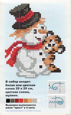 Gallery.ru / Фото #2 - КОЛЕДА - Tiana76 Christmas Crochet Patterns, Christmas Embroidery, Perler Patterns, Loom Patterns, Cross Stitch Charts, Cross Stitch Patterns, Cross Stitching, Cross Stitch Embroidery, Alpha Patterns