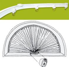 Make Your Own Bendable Curtain Rod For An Arch Half Circle