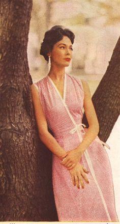 Dress fashion for Good Housekeeping, June 1954.