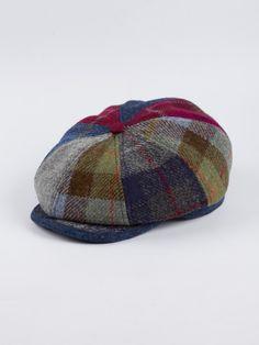 8a4daadb6d0 Harris Tweed Baker Boy Cap - Tweed Hats - Hats - Accessories - Peter  Christian Baker