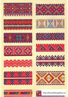 ru / Photo # 5 - 26 - of Diy Embroidery, Cross Stitch Embroidery, Embroidery Patterns, Loom Bands, Bead Loom Patterns, Beading Patterns, Cross Stitch Borders, Cross Stitch Patterns, Motifs Blackwork