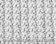 Free Sand Stitch Knitting Pattern: Cast on an even number of stitches. Row 1: (RS) Knit 1, Purl 1 (repeat this combination til end of row) Row 2: Knit Repeat above two rows until desired length.