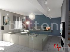Surowy nowoczesny salon - zdjęcie od Bettoni - Beton Architektoniczny - Salon - Styl Minimalistyczny - Bettoni - Beton Architektoniczny