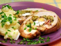 Kuřecí roláda se šťouchanými brambory Baked Potato, Potatoes, Baking, Ethnic Recipes, Food, Potato, Bakken, Essen, Meals
