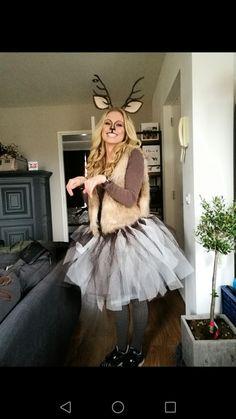 Self made deer costume carnaval Creative Halloween Costumes, Christmas Costumes, Diy Costumes, Costumes For Women, Diy Halloween, Woman Costumes, Couple Costumes, Pirate Costumes, Princess Costumes